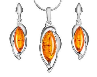 Drop silver jewellery-drop amber jewellery-drop amber jewelry-204