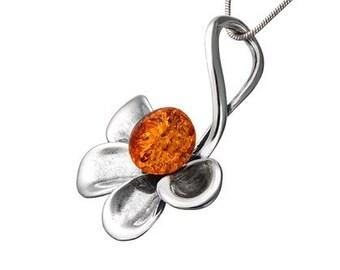 925 amber flower-polish amber flower-poland amber flower-282