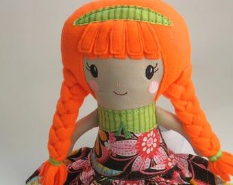 School Girl Cloth Doll **Medium**