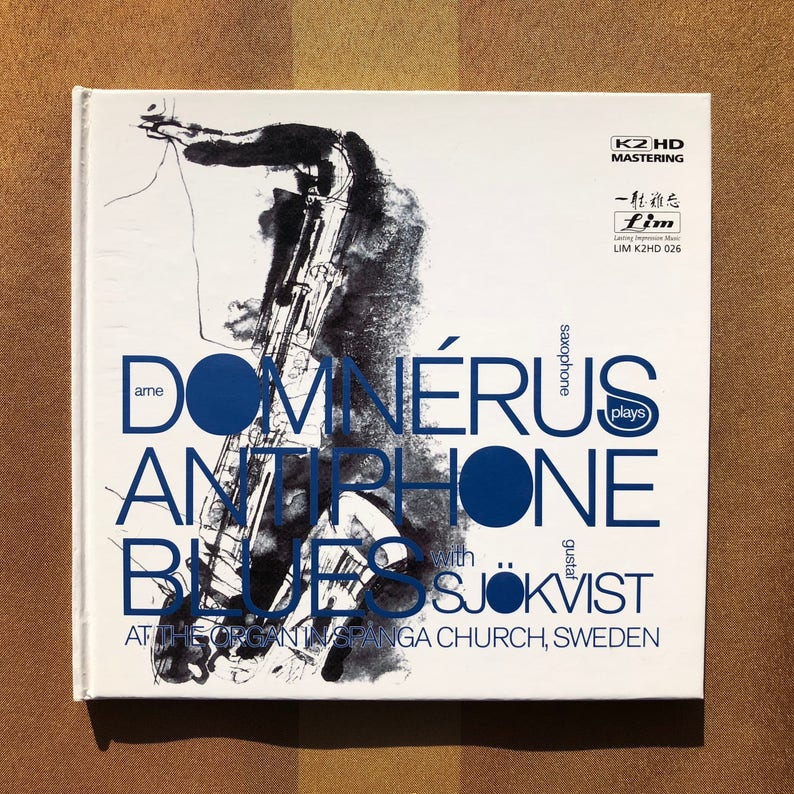 Arne Domnerus with Gustaf Sjokvist / Antiphone Blues - CD - Audiophile -  Lim - K2 HD Mastering - LIMK2HD 026