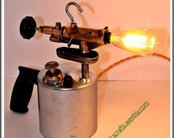 Steampunk Old Torch Lamp