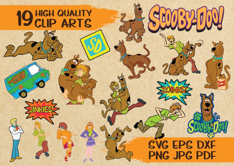 19 Scooby Doo svg cut file Clip Arts vector printable   Etsy