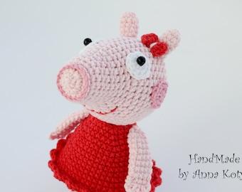 Peppa Pig Crochet Etsy