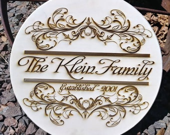 Distressed looking established family wood sign. Great for weddings, anniversaries, new home or any special occasion.