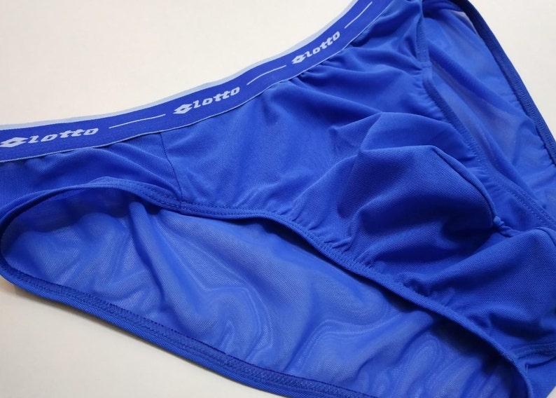 Royal blue mesh Briefs Mens Brief Mens Underwear See through Lingerie Enlarge pouch mens briefs extended pouch briefs mens mesh briefs