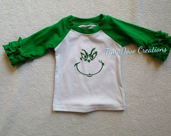 71ce477f94a6 Christmas shirt, Baby girl, Toddler shirt, Holiday shirt, Grinch, Gift for  Girl