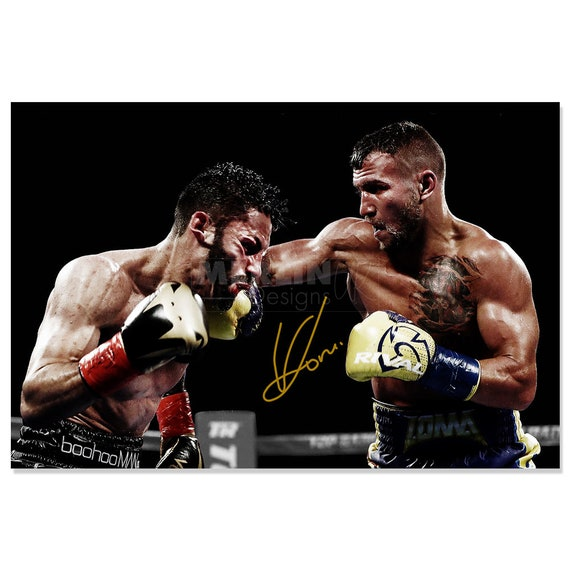 pre signed Vasyl Lomachenko photo print poster 12 x 8 inches