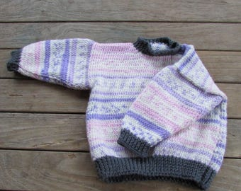 Pastel Goth Toddler Knit Sweater