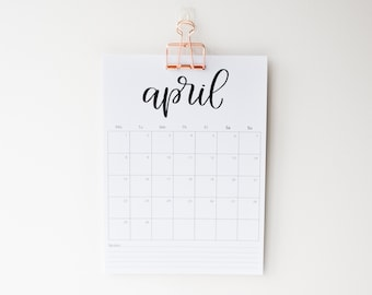 Start Any Month Wall Calendar 2022, A4 Size, Available With Office Clip, Academic Planner, Sunday or Monday start, Mid Year Calendar