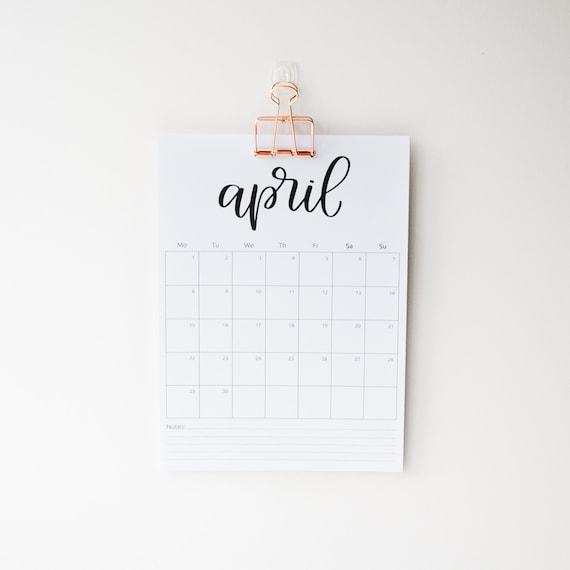My work calendar