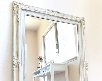 Shabby Chic Mirror | French Provincial  Mirror | Ornate Mirror | White Mirror | Gold Mirror | Antique Mirror | Vintage | French Country Chic