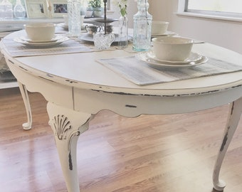 Shabby Chic Kitchen Tables Shabby chic dining table etsy sold can make custom french provincial dining table french country dining table workwithnaturefo