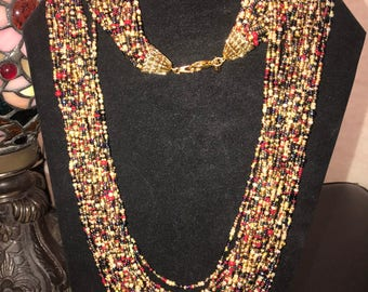 Vintage Joan rivers 24 strand beaded necklace