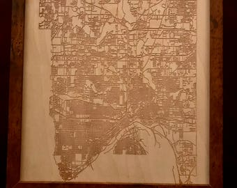 Map of St. Paul, MN