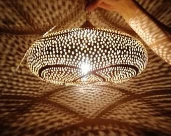 Moroccan Ceiling Lamp Style Lantern Large Lighting Lamp Hanging Decor Designer Wall Lampshade hurricane lamps Handmade Copper Lampshade