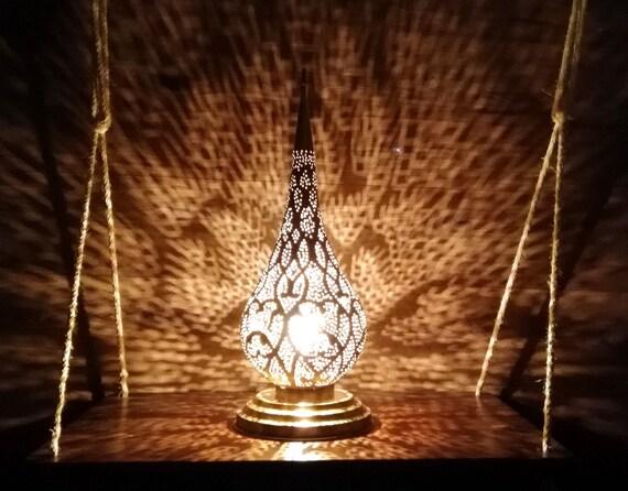 Moroccan Lamp Bronze Copper Lamp Moroccan Lighting Table Etsy