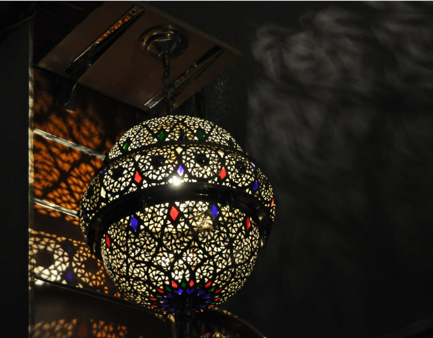 Moroccan Lamp Style Lantern Silver Medium Lighting Lamp Etsy