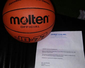 1992 Molten official Basketball of the Barcelona Olympics! Dream team! W/ COA