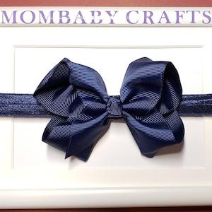 valentine\u2019s gift White Baby Headband Big Bow baby head band White girl hair bow toddler hair bow valentines infant