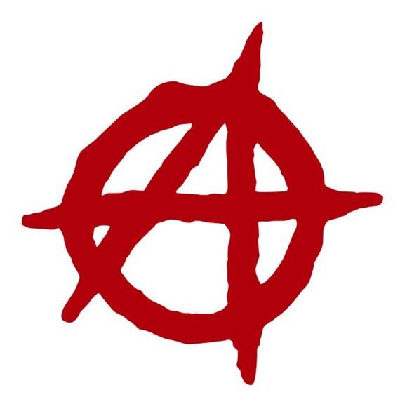 ANARCHY SYMBOL Vinyl Decal Sticker Car Window Wall Bumper Anarchist Chaos A Logo