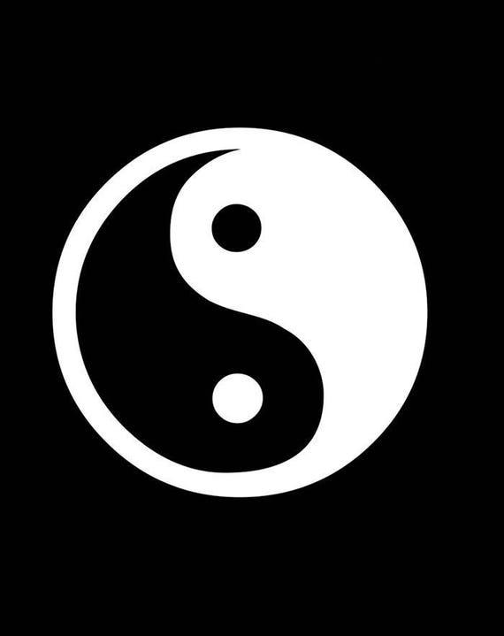 Yin Yang Chinese Symbol Decal Sticker Die Cut Vinyl Window Car Room Decoration