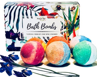Mothers Day Gift, Handmade bath bombs with essential oils and Organic Shea butter and Sea Salt