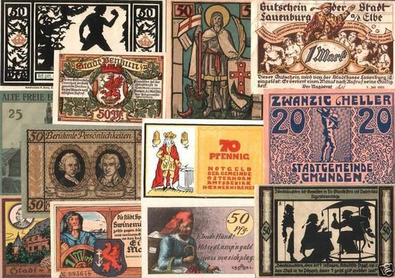 BEST OF THE BEST NOTGELD LARGEST, RAREST or MOST ARTISTIC 30 DIFF UNCIRC GEMS!