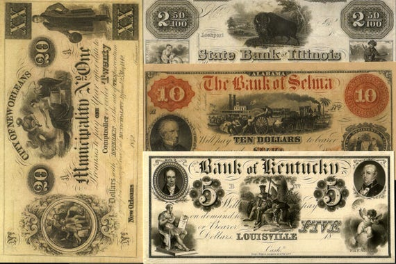 10 or More REPRINTS (COPIES) of RARITIES in Our U S  Currency Collection at  a Tiny Fraction of Their Collector Value