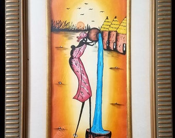 Oil Painting From Burkina Faso