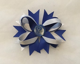 Indianapolis Colts hairbow