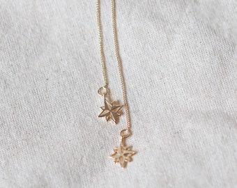 Lucky Star Gold Ear Threaders