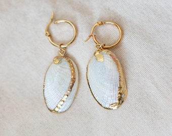 Freida Abalone Seashell Earrings