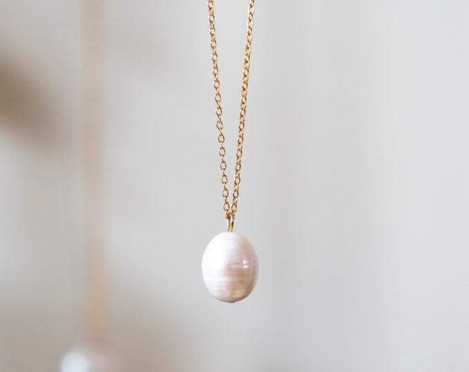 Large Teardrop Baroque Pearl Pendant