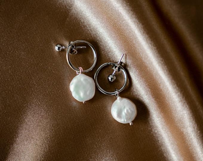 Lúa Moon Pearl Earrings