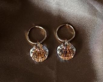 Swarovski Crystal Silver Screen Mermaid Earrings