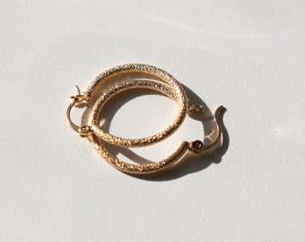 Jasmine Stardust Gold-filled Hoops
