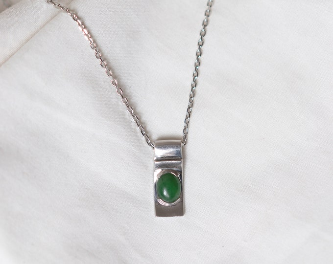 Jade Pendant on Stirling Silver
