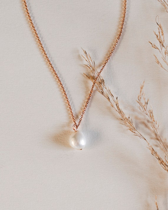 Mimi Pearl Necklace (Rose Gold)