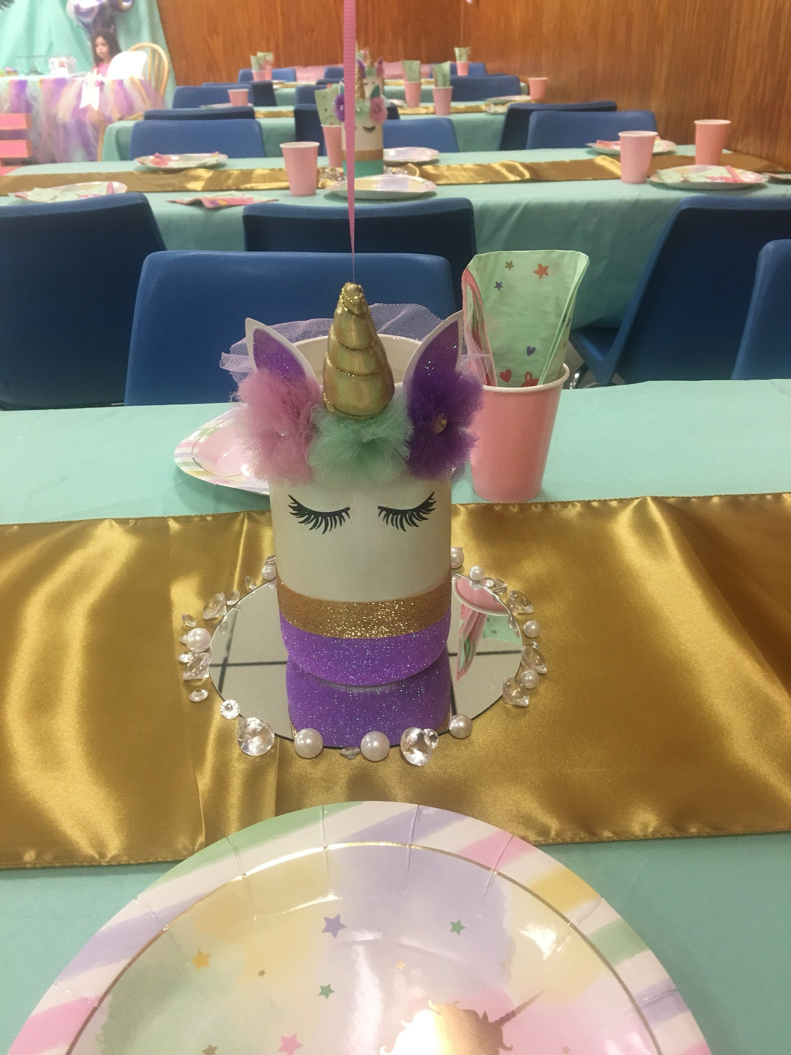 Unicorn Mason Jar Centerpieces Page Two
