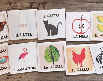 Set of 10 Italian Greeting Cards, Mixed Italian Greeting Cards, Blank Greeting Cards