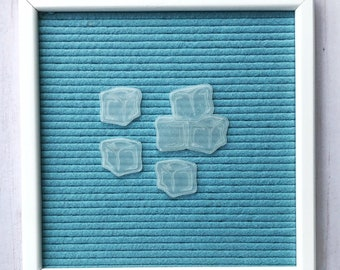 Ice Cubes Icon Set, letterboard ice, letterboard ice cubes, feltboard ice, winter letterboard, letterboard accessories, feltboard accessory