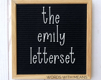 The Emily Letterset, letterboard letters, feltboard letters, letterboard accessories, feltboard accessories, cute letter board letters
