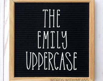 The Emily Uppercase Letterset, letterboard letters, feltboard letters, cute letters, letterboard accessories