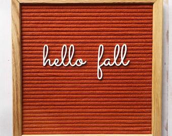 Hello Fall Cutesy Cursive, cursive hello fall, cursive letterboard, letterboard accessories, fall letterboard decor, fall feltboard accents,