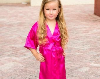 Flower Girl Robes Flower Girl Gift Ideas for Girls Robe For Wedding Robe  Girl Child Size Lace Robes Kids Navy Robe Kids Satin Robe 4c81a8f3c