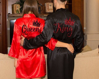 King and Queen Bath Robes Couple Robes Mr. Mrs. Robes His Her s Personalize  Robes Honeymoon Gift Name Wedding Gifts Gift for Groom 2f10483d1