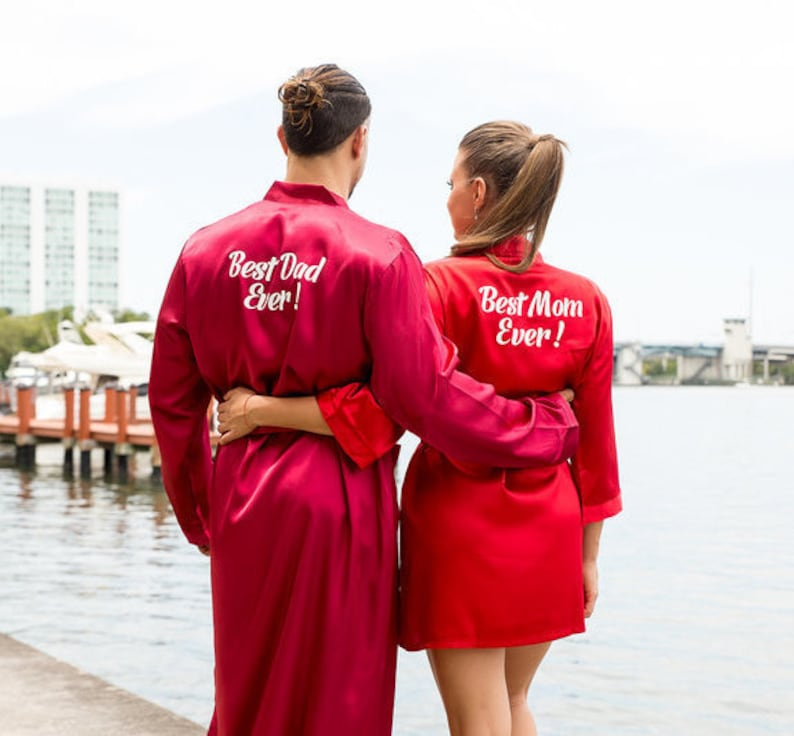 5a584d24bf Matching Robes for Mom and Dad Satin Personalized Robes