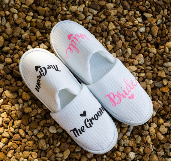 Bride Slippers Personalized Bridal Slippers Bride Slippers  de4096cc4762