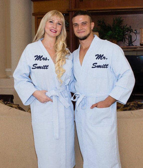 c1934914c4 Personalized Bath Robe Valentine s Day Groom and Bride