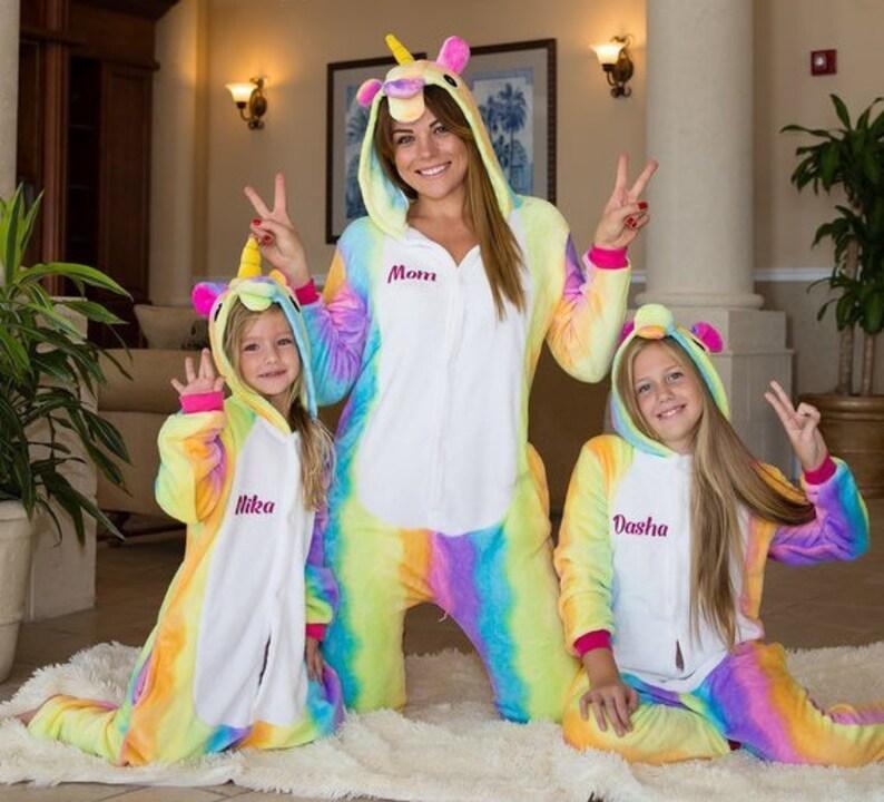 Unicorn Family Matching Pajamas Rainbow Unicorn Pajamas  4c9c71820
